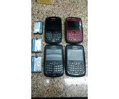 Lote de 4 Blackberrys. Todos Encienden