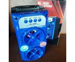 Parlante Bluetooth Sd Usb Radio Fm C/luz