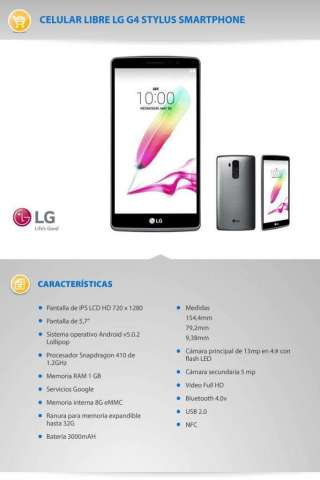 LG G4 Stylus Libre C/accesorios