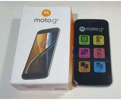 Motorola G4 en Caja con 4 Meses, Libre.