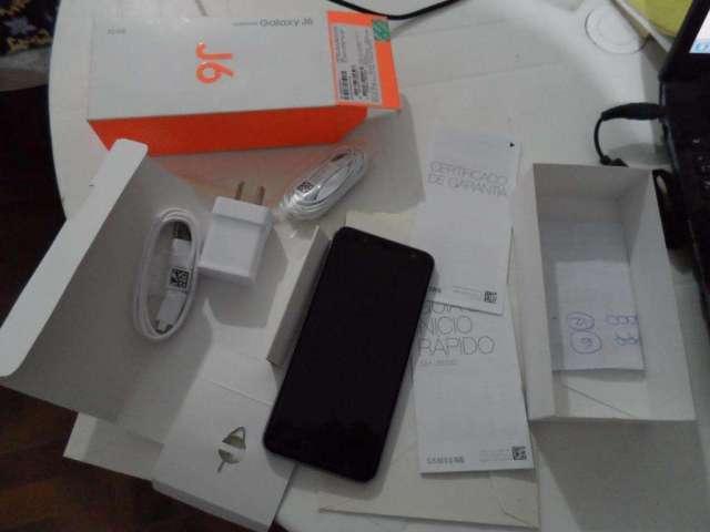 Samsung j6 con caja y accesorios