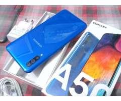 Samsung Galaxy A50 64gb libre completo en caja dias de uso recibo iphone