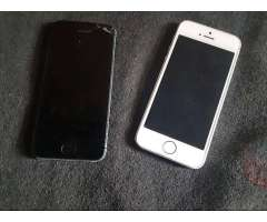 iPhone 5s (blanco) iPhone 5 (silver) para REPUESTOS!